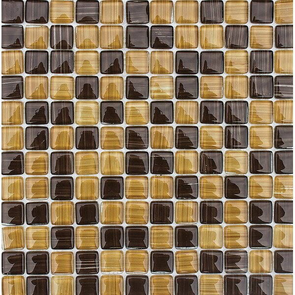 Pismo 1 x 1 Glass Mosaic Tile by Parvatile