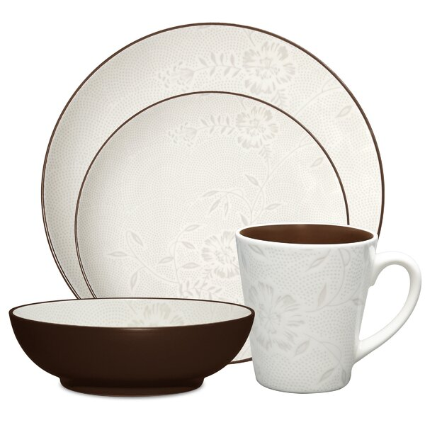 Colorwave Bloom Coup 4 Piece Place Setting, Service for 1 by Noritake