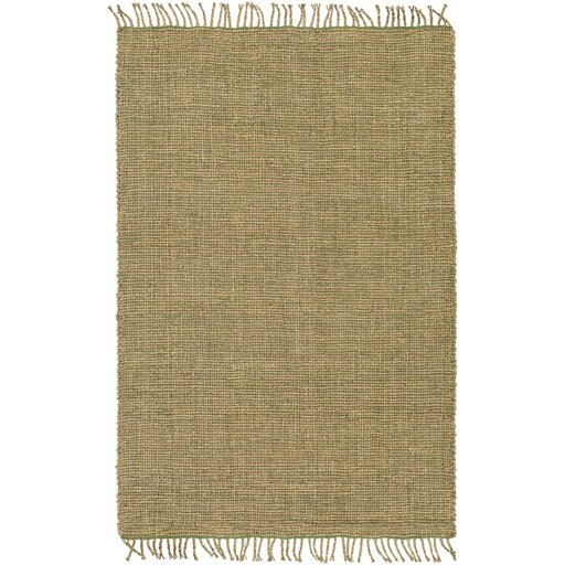 Adelia Hand-Woven Grass Green/Khaki Area Rug by August Grove
