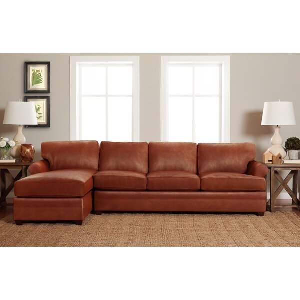 Living Your Way Leather Sectional By Wayfair Custom Upholstery™