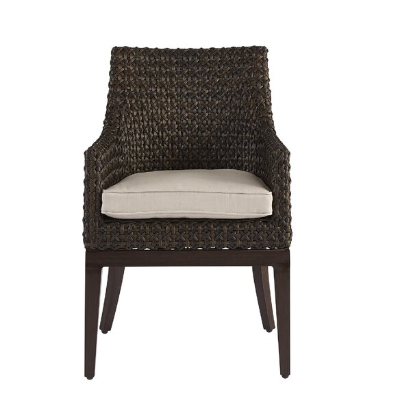Asphodèle Wicker Patio Dining Chair With Cushion By Gracie Oaks
