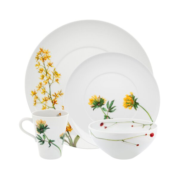 Prairie 4 Piece Place Setting, Service for 1 by Vista Alegre