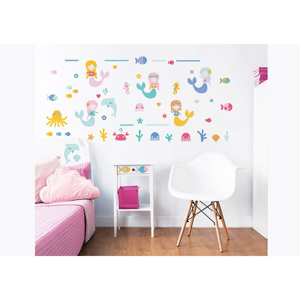Mermaids 56 Piece Wall Decal Set by WallPops!
