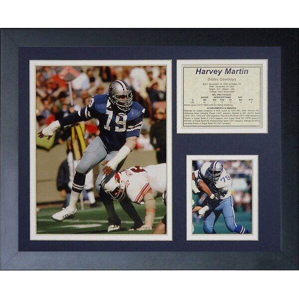 Harvey Martin Framed Memorabilia by Legends Never Die
