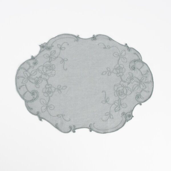 Embroidered Stone Washed Placemat (Set of 4) by Saro