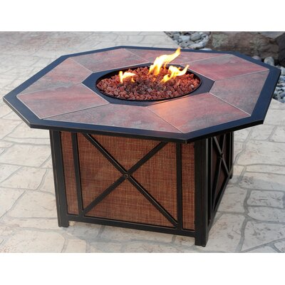 Ophelia & Co. Grenshaw Aluminum Propane Fire Pit Table