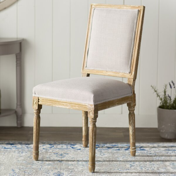 Hadrien Wood Traditional French Side Chair by Lark Manor