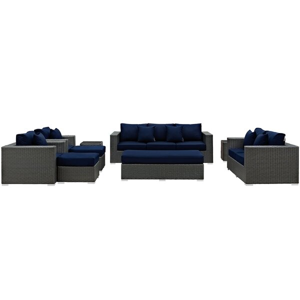 Tripp 9 Piece Sunbrella Sofa Seating Group with Cushions by Brayden Studio