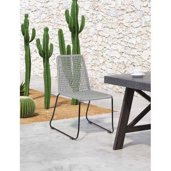 Carlo Stacking Patio Dining Chair (Set of 2) by Bungalow Rose