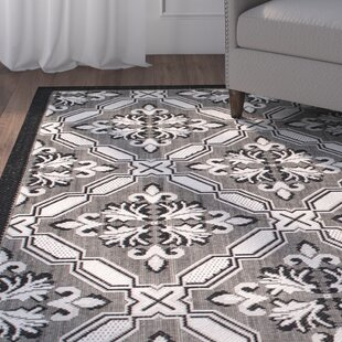 Benningfield All Weather Black Indoor/Outdoor Area Rug By Charlton Home