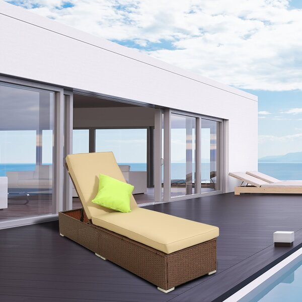 Stinecipher Reclining Chaise Lounge with Cushion