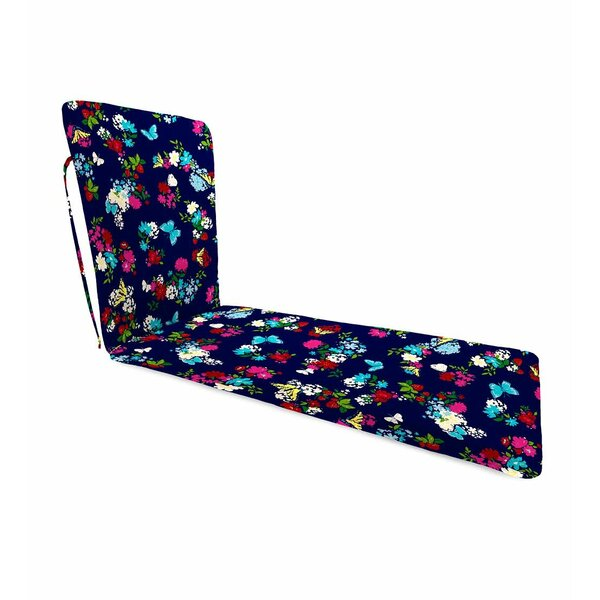 Polyester Chaise Lounge Cushion with Ties by Plow & Hearth