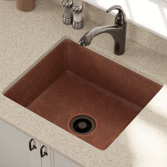 25 L x 22 W Single Undermount Kitchen Sink with Drain Assembly by Polaris Sinks