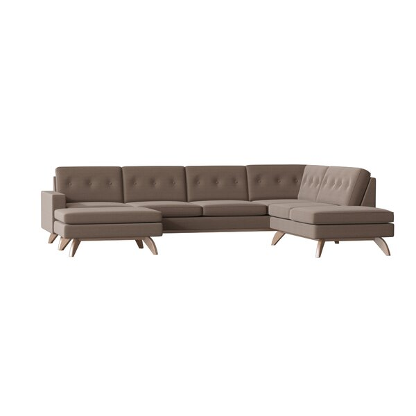 Luna Sectional with Ottoman and Bumper by TrueModern