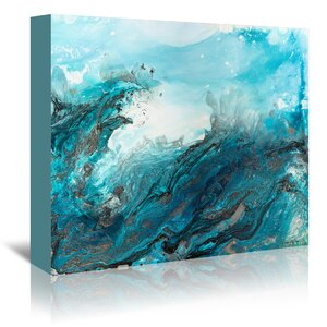 Crashing Waves' Graphic Art Print on Canvas by Willa Arlo Interiors