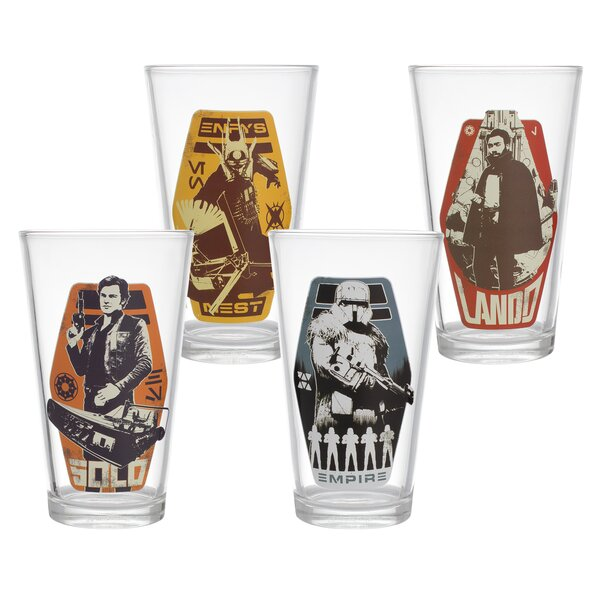 Star Wars Glass 4 Piece Every Day Glasses Set by Vandor LLC