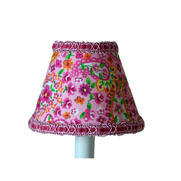 Floral Made Fun 4 H Fabric Empire Candelabra shade ( Clip on ) in Pink