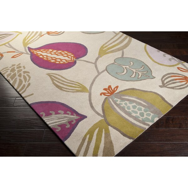 Harlequin Cobble Stone Ivory Floral Area Rug by Harlequin