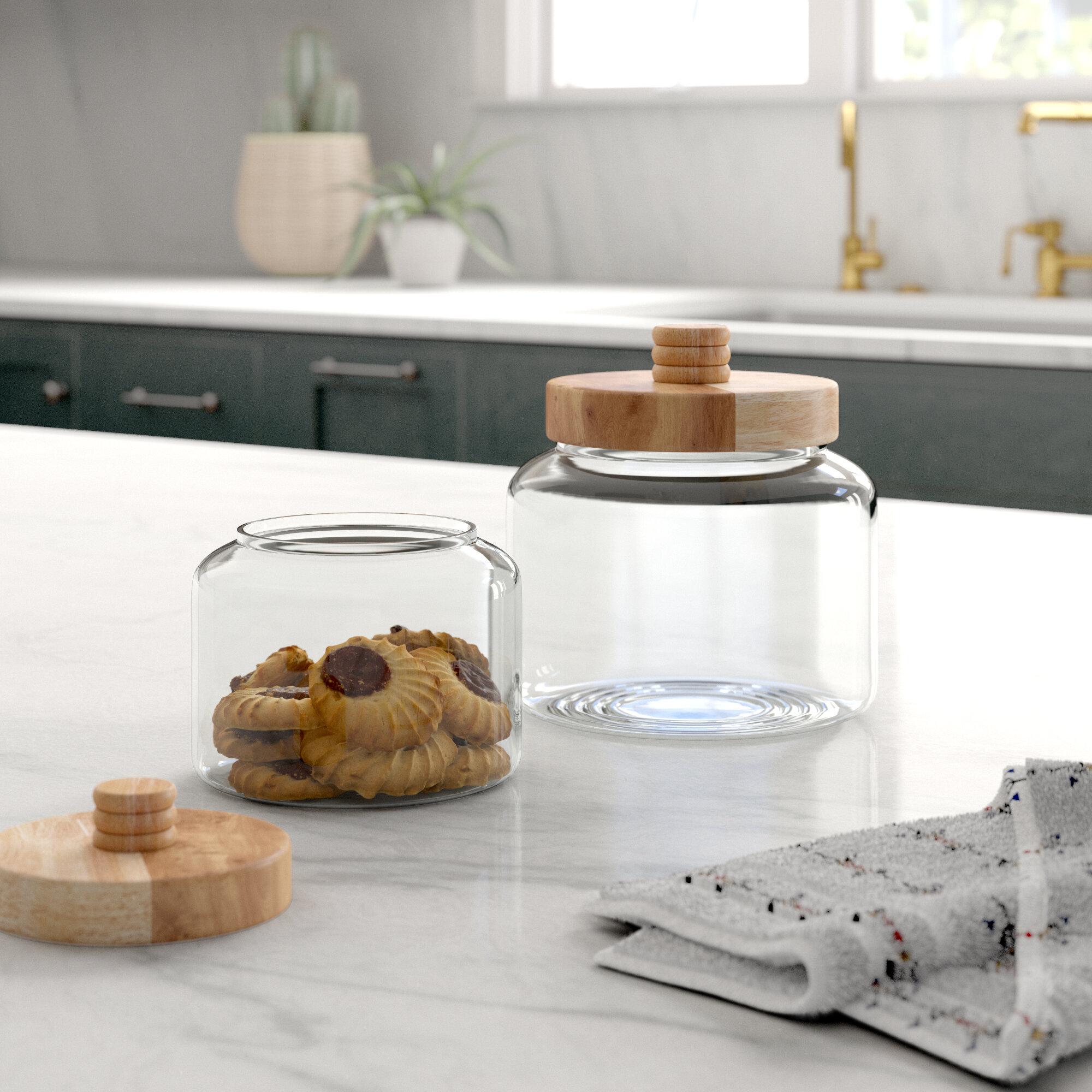 Mistana Modern Glass 5 qt. Kitchen Canister Set & Reviews ...