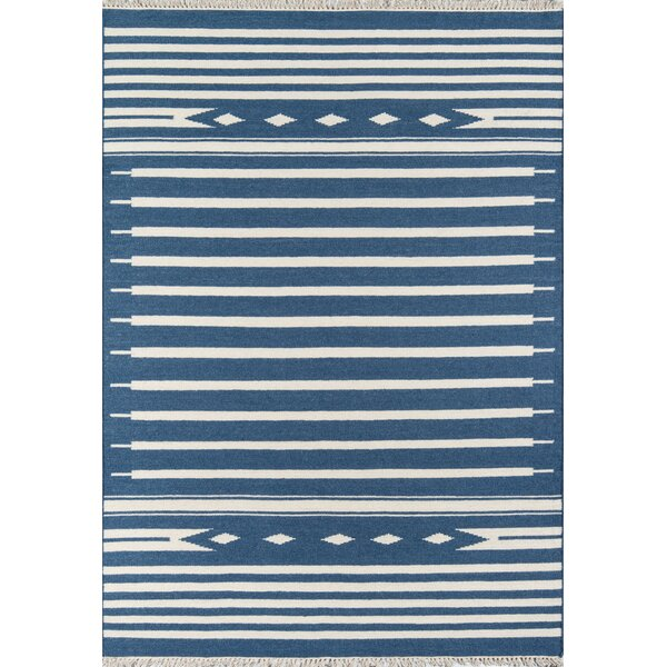 Thompson Billings Hand-Woven Wool Denim Area Rug by Erin Gates by Momeni