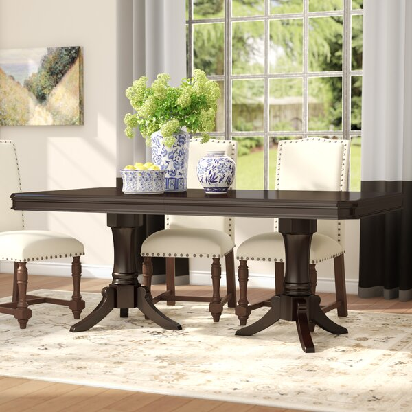 Rheems Extendable Solid Wood Dining Table by Alcott Hill Alcott Hill