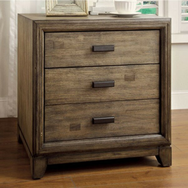 Polito 3 Drawer Nightstand by Bloomsbury Market