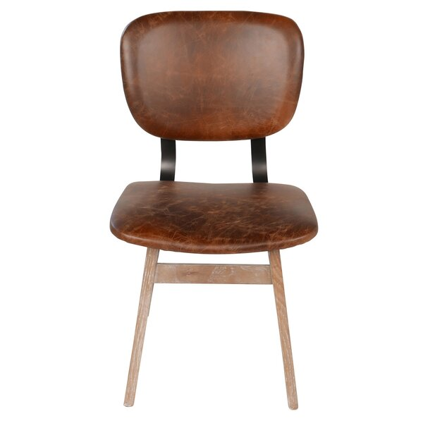 Sloan Genuine Leather Upholstered Dining Chair by Joseph Allen