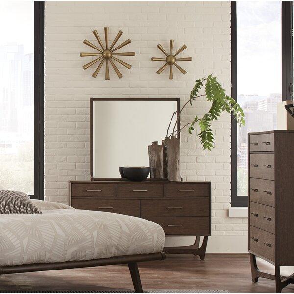 Doorfield 7 Drawer Double Dresser with Mirror by Corrigan Studio