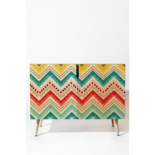 Chevrons 2 Door Accent Cabinet by East Urban Home