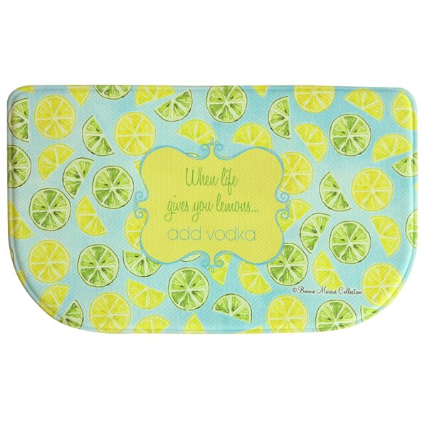 Floor Comfort Lemon Lime Doormat by Bacova Guild