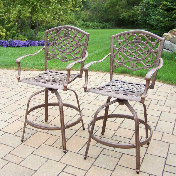 Mississippi 27 Patio Bar Stool (Set of 2) by Oakland Living