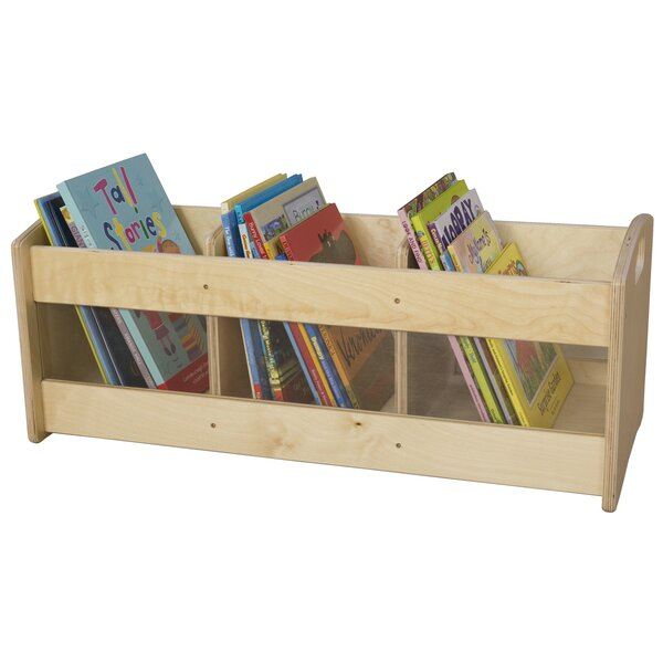 Toddler 3 Compartment Book Display by Wood Designs