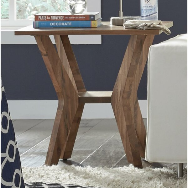 Omro Walnut Wood End Table by Williston Forge