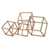 Laury Metal Cube Table Sculpture