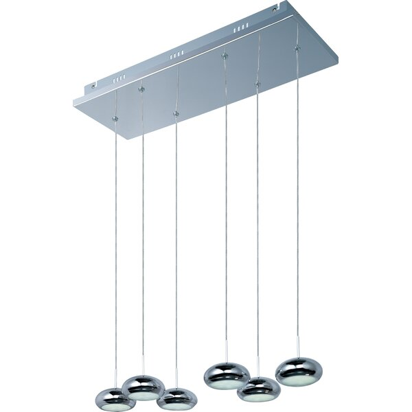 Dial 6-Light LED Kitchen Island Pendant by Langley Street