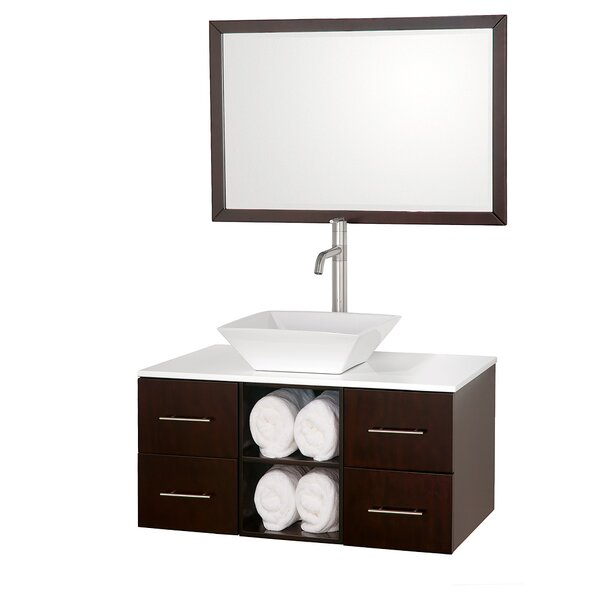 Abba 36 Single Bathroom Vanity Set with Mirror by Wyndham Collection