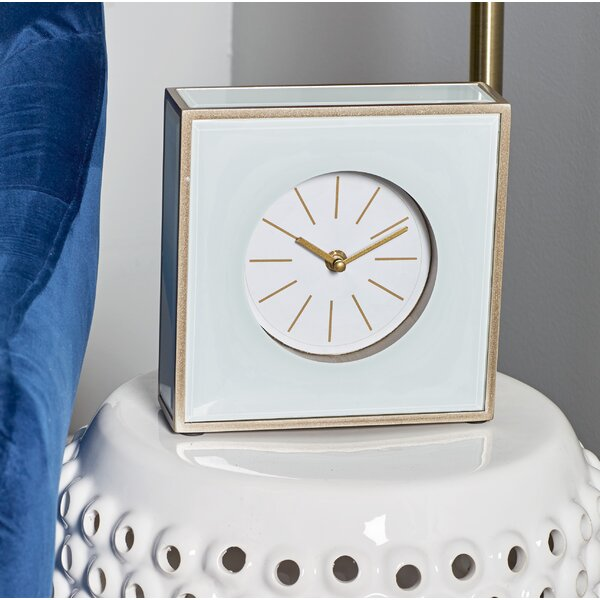 Modern Square Tabletop Clock by Alcott Hill