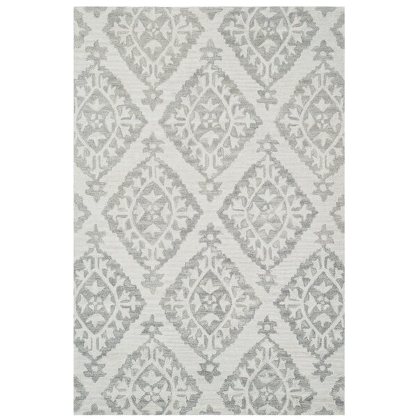 Peltz Hand-Tufted Gray Area Rug by Lark Manor