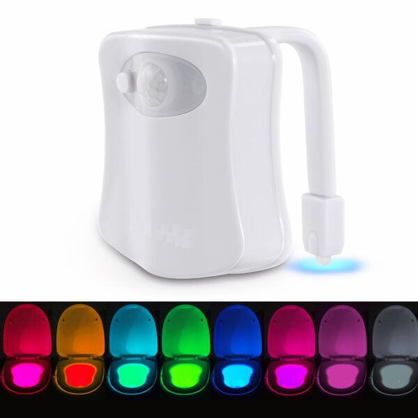 LED Motion Activated Toilet Bowl Night Light by Imperial Home