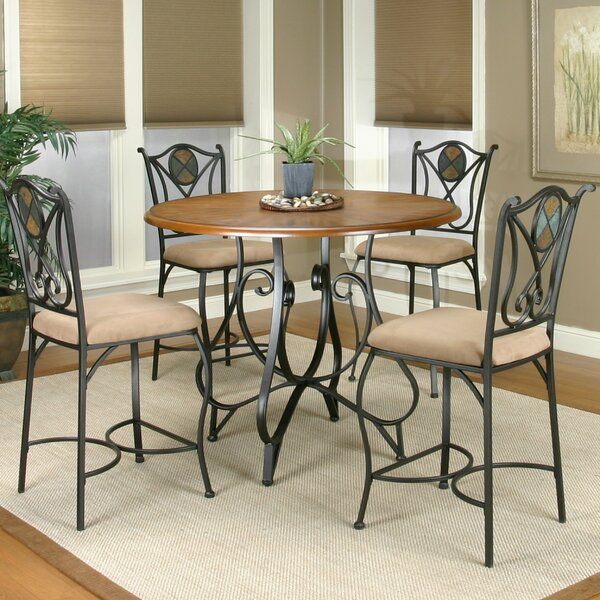 El Diente 5 Piece Counter Height Dining Set by Loon Peak