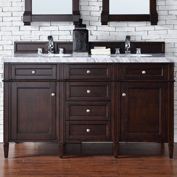 Deleon Traditional 60 Double Burnished Mahogany Bathroom Vanity Set by Darby Home Co