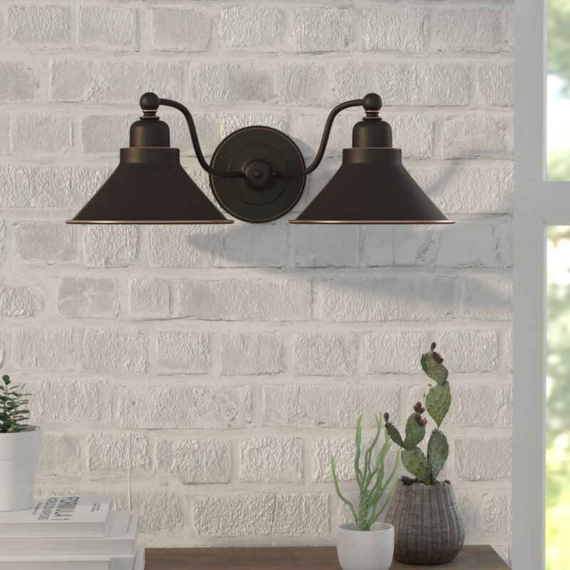 Mckinney 2 light wall sconce in mission dust bronze reviews joss mckinney 2 light wall sconce in mission dust bronze aloadofball Image collections