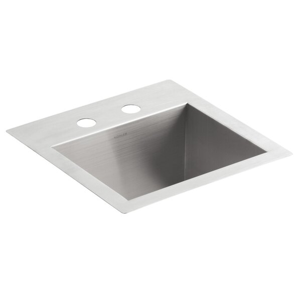 Vault Top-Mount/Under-Mount Bar Sink with 2 Faucet Holes by Kohler