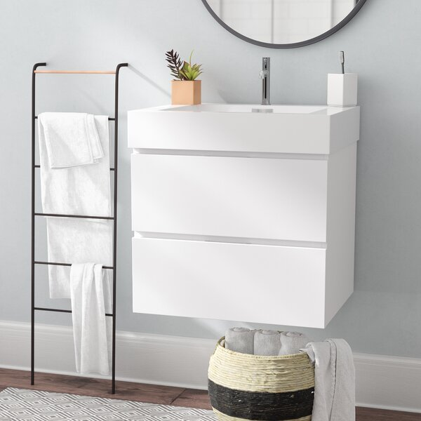 Tenafly 24 Single Wall Mount Bathroom Vanity Set by Wade Logan