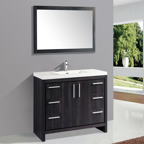 Peiffer 47 Single Bathroom Vanity Set with Mirror by Orren Ellis