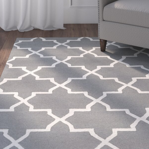Blaisdell Charcoal Geometric Keely Area Rug by Charlton Home
