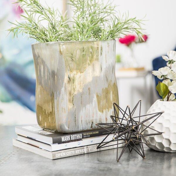 Deschamps Hand Blown Glass Table Vase by Highland Dunes