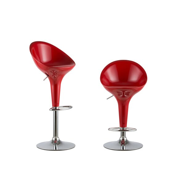 Adjustable Height Swivel Bar Stool Set (Set of 2) by Attraction Design Home