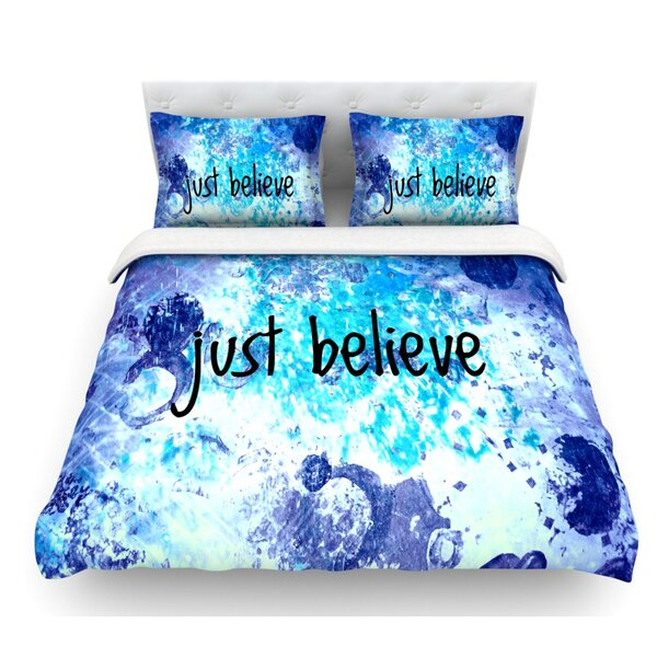 Just Believe by Ebi Emporium Featherweight Duvet Cover by East Urban Home