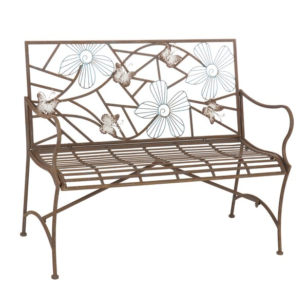 Iron Butterfly Garden Bench by August Grove